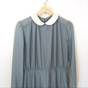 Vintage 70's 80's Sears Secretary /Librarian Dress